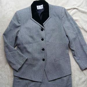 Wool Checkered Suit Set